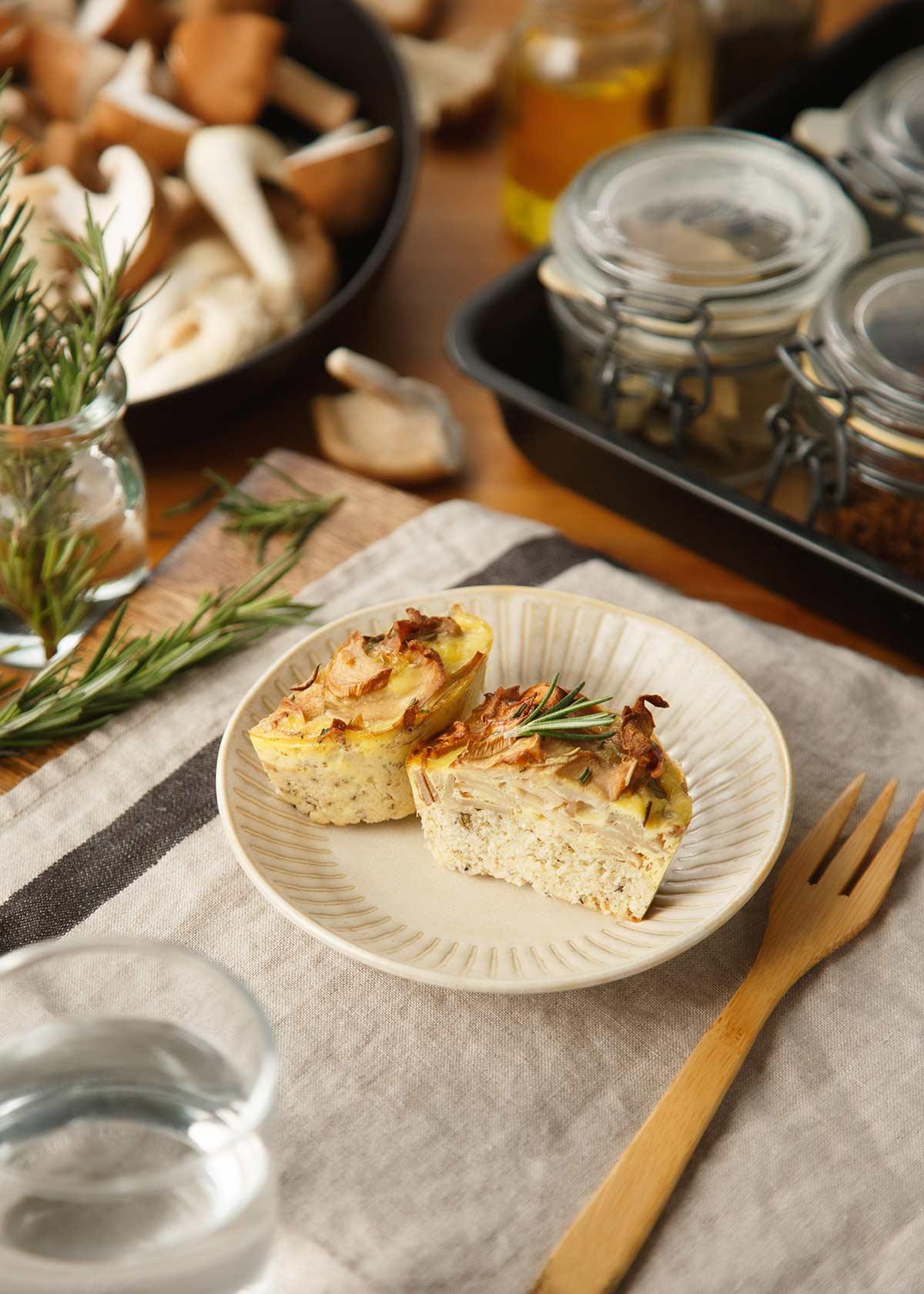 迷迭香野菇鹹派-產品示意圖